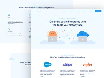 Calendly Integrations scheduling illustration focus lab website web design integrations