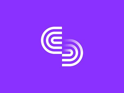 Dimension shadow ripple waves d c identity line branding logo