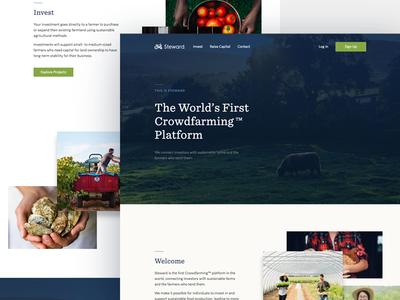 Steward Landing Page website web design ui focus lab farm agriculture