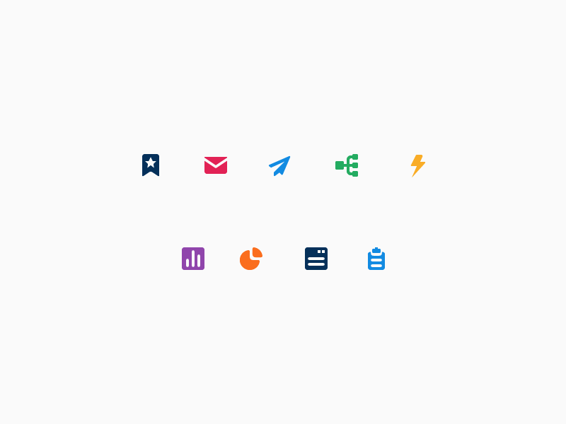 ClickDimensions Icons office marketing icon iconography focus lab email crm branding