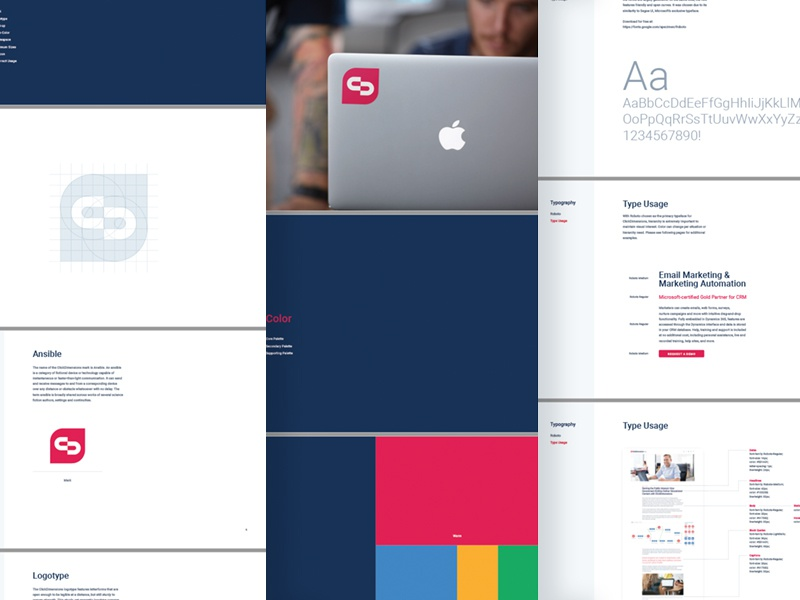 ClickDimensions Brand Guidelines by Joshua Krohn for Focus Lab on