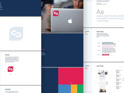 ClickDimensions Brand Guidelines style guide guidelines logo design color typography ansible logo identity focus lab dimension branding