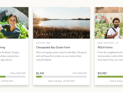Card Typography typography card website web design ui focus lab farm agriculture