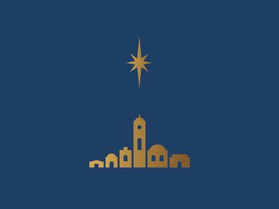 Bethlehem town illustration christmas david star bethlehem