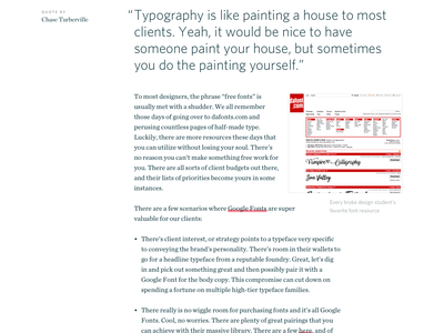 Sidecar Typography web design website typography ui blog sidecar
