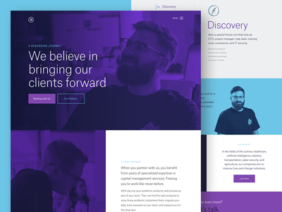 How It Works Collab ux ui web design website landing page hero focus lab collaboration exploration