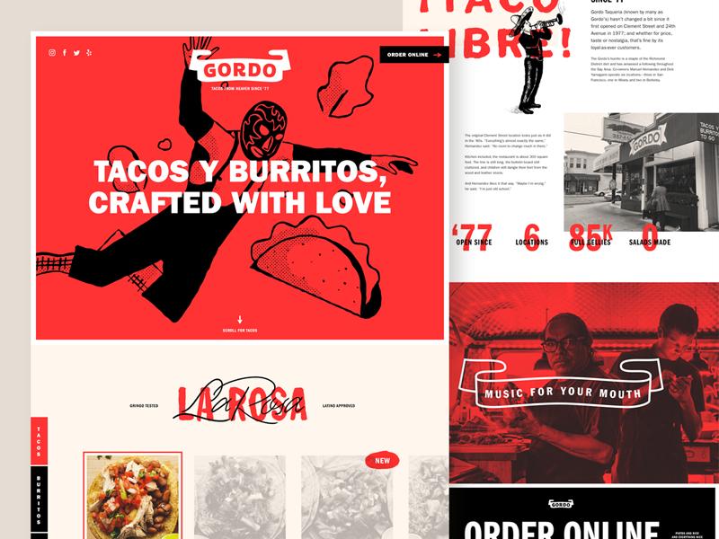 ¡Gordo's! web design website restaurant taco mexican branding focus lab burrito