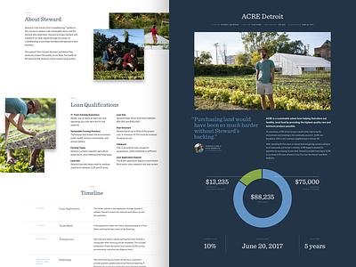 Project Case Study typography web design website ux ui focus lab farmer case study