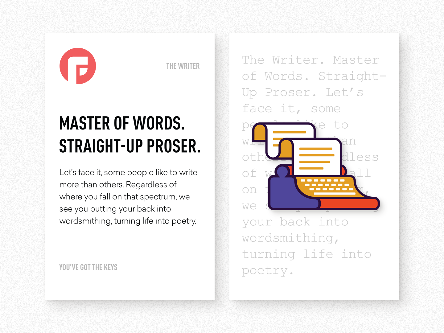The writer packaging