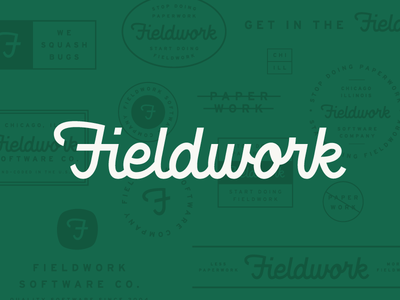 Badge Work badge heritage vintage typography script logotype logo hand lettering focus lab fieldwork