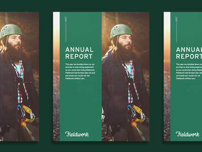 Annual Report print annual report typography script logotype logo heritage hand lettering focus lab fieldwork