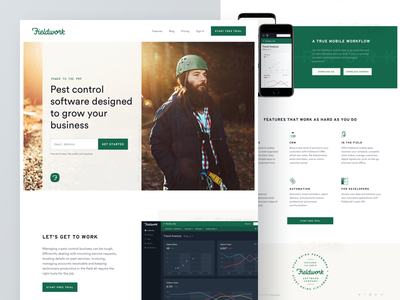 Fieldwork Marketing Site software iconography focus lab fieldwork ui marketing website branding