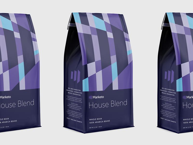 Marketo Brand Launch Coffee identity graphic design logo typography coffee packaging focus lab branding marketo