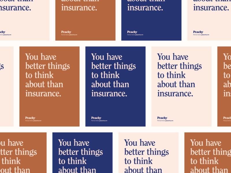 Peachy Typography identity design poster typography focus lab branding