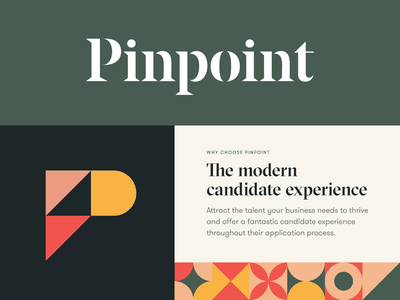 Pinpoint Visual Identity p hr stencil brand identity logo design pattern type logo typography focus lab branding