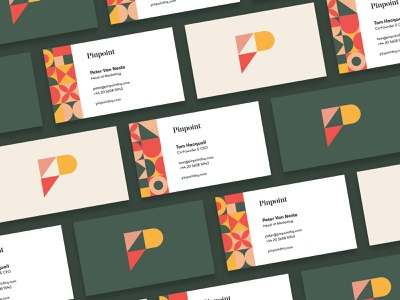 Pinpoint Business Cards p collateral business card typography type pattern logo design logo hr focus lab branding brand identity