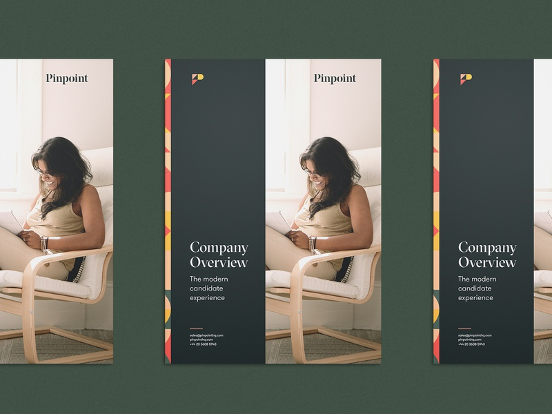 Pinpoint Booklet Cover brochure booklet print design logo typography focus lab branding