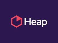 Heap Logo data heap hexagon brand identity brand design brand identity design logo focus lab branding
