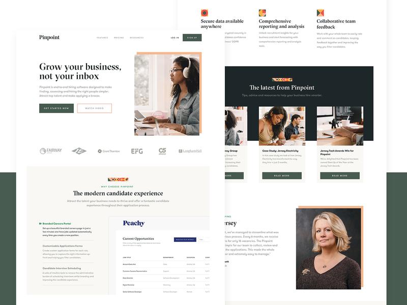 Pinpoint Homepage brand identity brand design homepage identity web design website ui logo typography focus lab branding