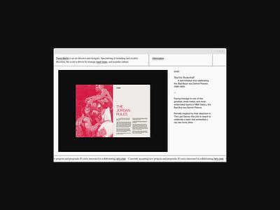 travis-martin.com swiss trend branding monochrome portfolio site portfolio layout cargo responsive brutalism typography grid system grid ux web design website