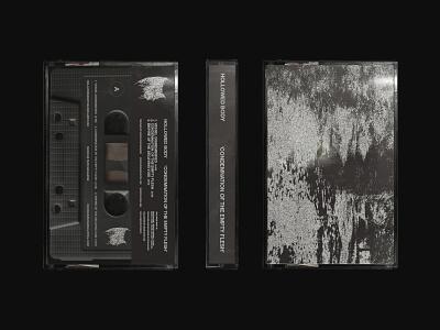 Hollowed Body abstract art distortion cassette tape packaging graphic design band merchandise metal helvetica sans serif design monochrome grid texture music