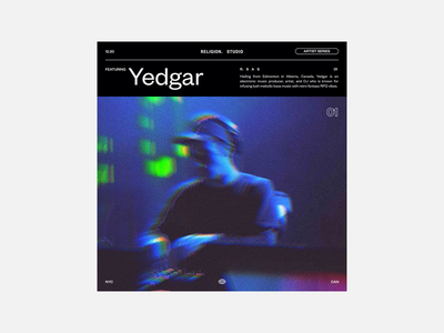 Artist Series trend type sans serif swiss tumblr album artwork grid music graphic design art director branding typography