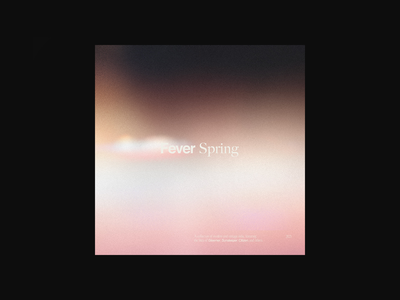 Fever Spring logo branding spring texture sans serif tumblr emo design graphic design type gradient music typography