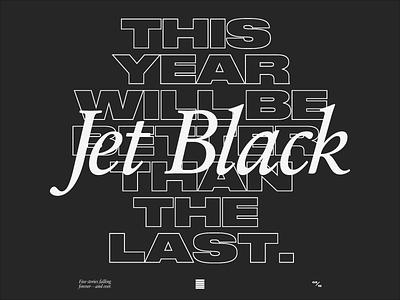 New Year print t-shirt jet black emo druk tumblr sans serif brutalist nye lyrics thursday
