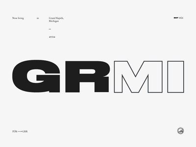 Hello, Grand Rapids. portland michigan monochrome layout grid tumblr modern druk sans serif serif typography