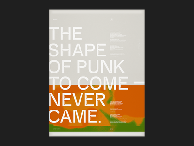 The Shape of Punk That Never Came rp digital inktraps sans serif grid trend tumblr texture swiss design graphic design typography eyeball united nations refused poster music