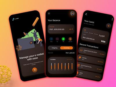 Wallet App mobile app 3d ui