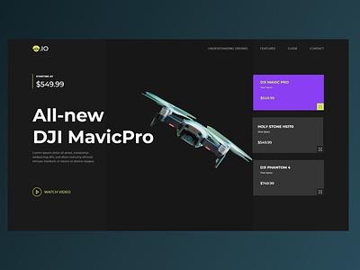 Drone.io - Concept Landing Page design web ui