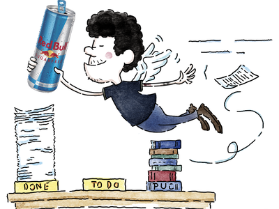 Red Bull caricature