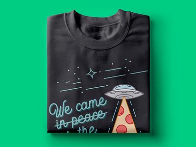 Aliens T-shirt illustration tshirt design t-shirt art t-shirt