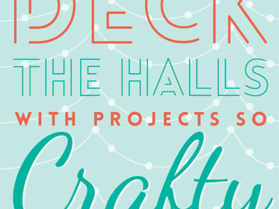 Deck The Halls ecard email typography