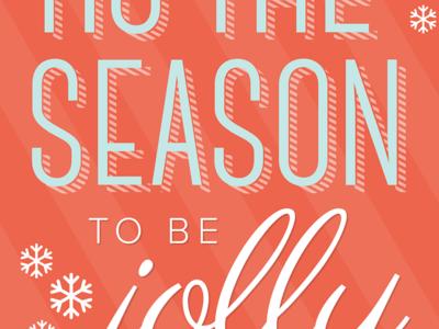 Tis The Season ecard email typography