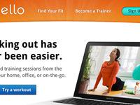 Fitness Product Website Design 2