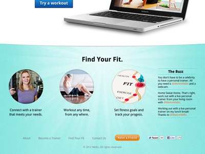 Fitness Product Website Design 3