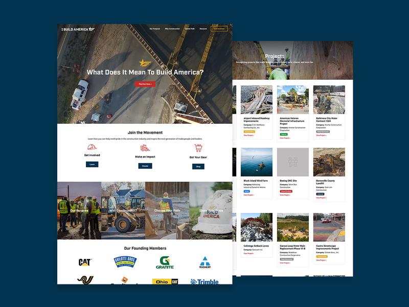 I Build America Website Design