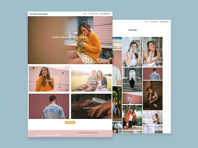 Josh Espinoza Photography Website Design web branding design web design wordpress
