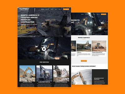 Turner Mining Group Website Design ui website design web wordpress design web design
