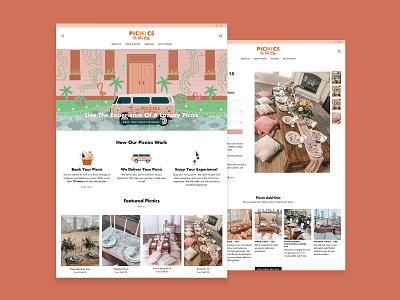 Picnics in the City Website Design shopify theme shopify web website design branding design web design