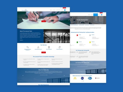 The Leeward Team web branding website design web design design wordpress