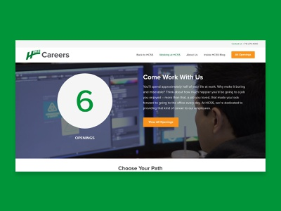 HCSS Careers Website front-end development web wordpress website design web design