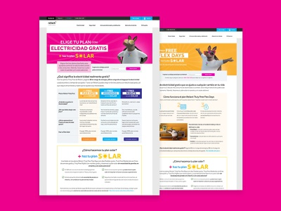 Reliant 2021 Mass Campaign (Hispanic Market) web website design design web design