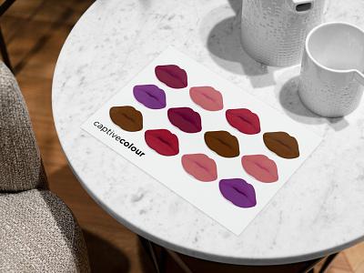 CaptiveColour Cosmetics Info Card graphic design infocard postcard illustration branding