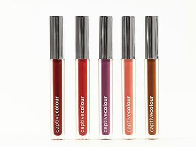 CaptiveColour - Lipstick Tubes Design typography logo branding design graphic design