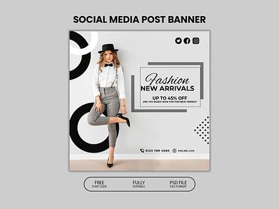 Social Media Post Banner poster design social media post template corporate concept professional design editable file branding adobe photoshop creative design design social media post design
