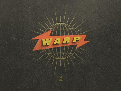 Warp Records warp records music label identity retro mark logo illustration