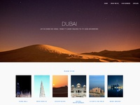 Travel Agency Dubai Landing Page